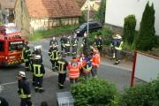 01.06.2015 - Übungsabend Retten von mehreren Personen vom Baugerüst