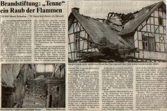 03.06.1996 - Brandstiftung Ausflugslokal Tenne