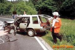 13.06.1992 - PKW Unfall B275 Richtung Niederems
