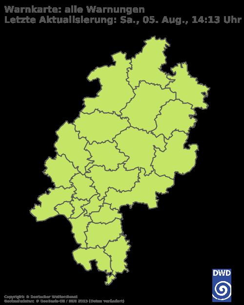 Aktuelle Wetterwarnungen für Rheingau-Taunus-Kreis